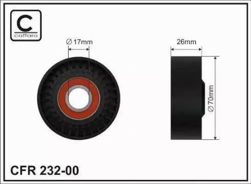 CAFFARO 232-00 - Poulie-tendeur, courroie trapézoïdale à nervures www.widencarpieces.com