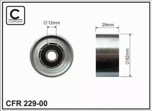 CAFFARO 229-00 - Poulie renvoi/transmission, courroie de distribution www.widencarpieces.com