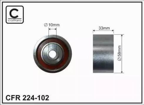CAFFARO 224-102 - Poulie renvoi/transmission, courroie de distribution www.widencarpieces.com