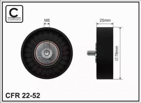 CAFFARO 22-52 - Poulie renvoi/transmission, courroie trapézoïdale à nervures www.widencarpieces.com