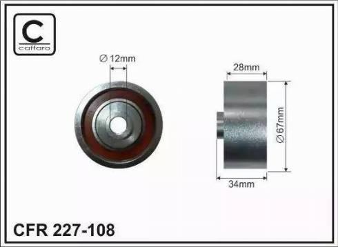 CAFFARO 227-108 - Poulie renvoi/transmission, courroie trapézoïdale à nervures www.widencarpieces.com