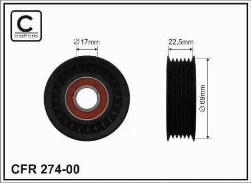 CAFFARO 274-00 - Poulie-tendeur, courroie trapézoïdale à nervures www.widencarpieces.com