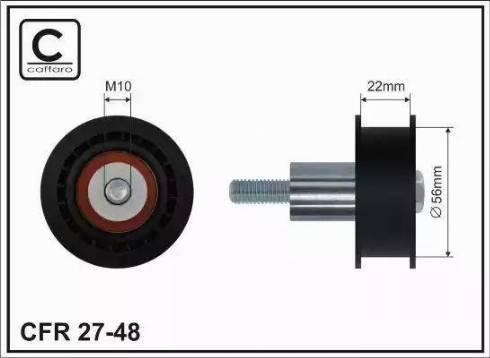 CAFFARO 27-48 - Poulie renvoi/transmission, courroie de distribution www.widencarpieces.com
