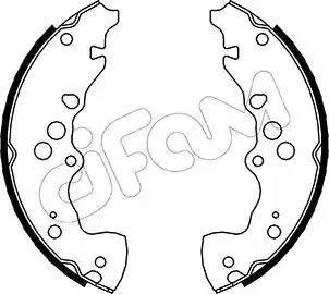 Cifam 153-405 - Jeu de freins, freins à tambour www.widencarpieces.com