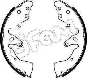Cifam 153-407 - Jeu de freins, freins à tambour www.widencarpieces.com