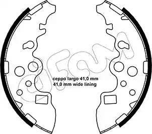 Cifam 153-222 - Jeu de freins, freins à tambour www.widencarpieces.com