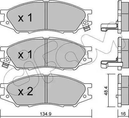 Parts-Mall PKE-004 - Kit de plaquettes de frein, frein à disque www.widencarpieces.com
