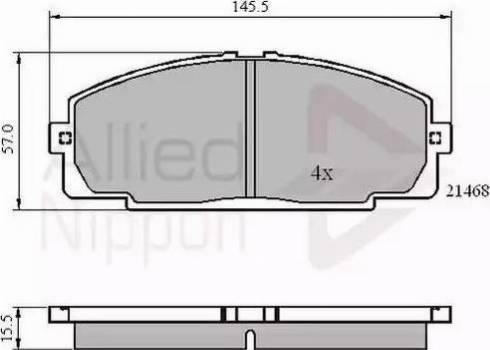 Comline ADB0459 - Kit de plaquettes de frein, frein à disque www.widencarpieces.com
