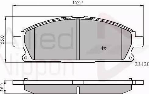 Comline ADB0591 - Kit de plaquettes de frein, frein à disque www.widencarpieces.com