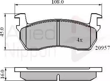 Comline ADB0366 - Kit de plaquettes de frein, frein à disque www.widencarpieces.com