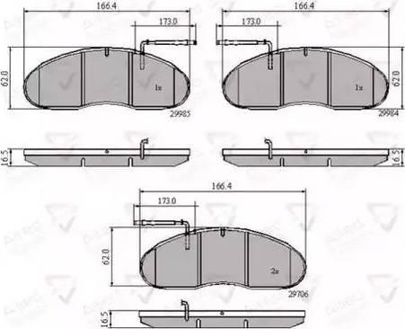 Comline ADB1991 - Kit de plaquettes de frein, frein à disque www.widencarpieces.com
