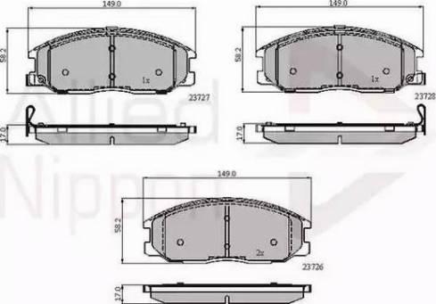 Comline ADB3902 - Kit de plaquettes de frein, frein à disque www.widencarpieces.com