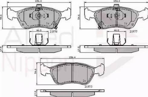 Comline ADB3450 - Kit de plaquettes de frein, frein à disque www.widencarpieces.com