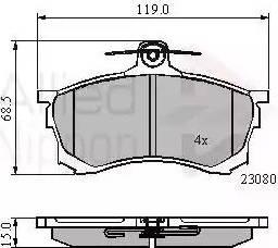 Comline ADB3452 - Kit de plaquettes de frein, frein à disque www.widencarpieces.com