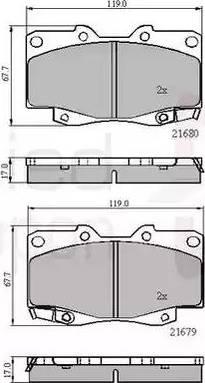 Comline ADB31574 - Kit de plaquettes de frein, frein à disque www.widencarpieces.com