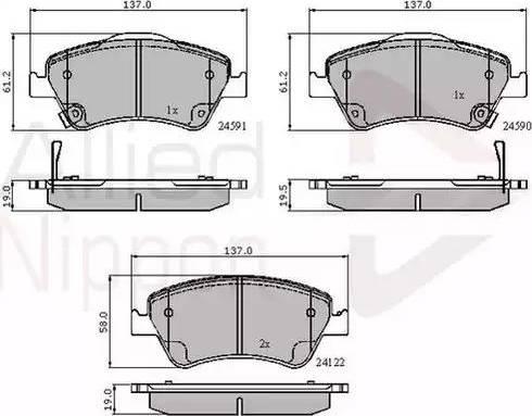 Comline ADB31576 - Kit de plaquettes de frein, frein à disque www.widencarpieces.com