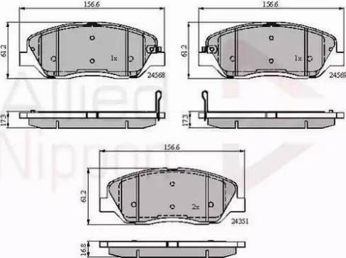 Comline ADB31676 - Kit de plaquettes de frein, frein à disque www.widencarpieces.com