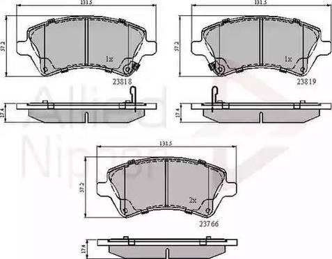 Comline ADB31154 - Kit de plaquettes de frein, frein à disque www.widencarpieces.com
