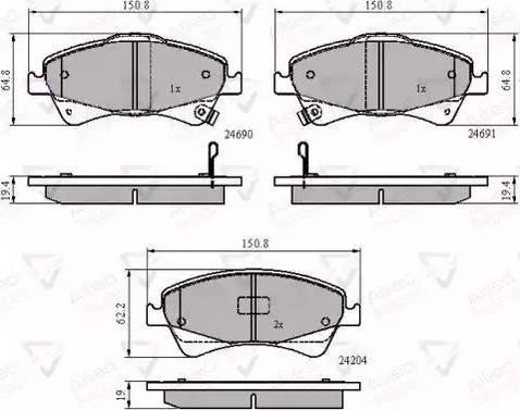 Comline ADB31799 - Kit de plaquettes de frein, frein à disque www.widencarpieces.com