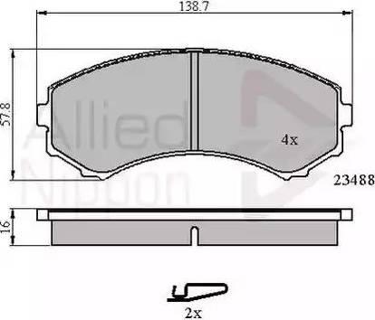Comline ADB3172 - Kit de plaquettes de frein, frein à disque www.widencarpieces.com