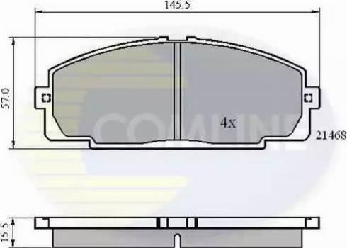 Comline CBP0459 - Kit de plaquettes de frein, frein à disque www.widencarpieces.com