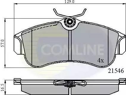 Comline CBP0566 - Kit de plaquettes de frein, frein à disque www.widencarpieces.com
