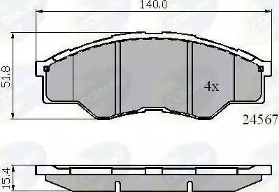 Comline CBP01773 - Kit de plaquettes de frein, frein à disque www.widencarpieces.com