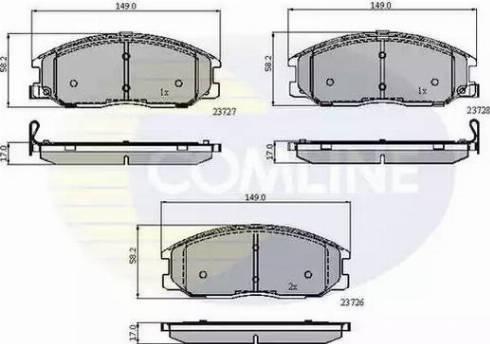 Comline CBP3902 - Kit de plaquettes de frein, frein à disque www.widencarpieces.com