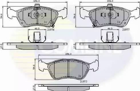 Comline CBP3450 - Kit de plaquettes de frein, frein à disque www.widencarpieces.com