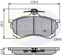 Comline CBP3452 - Kit de plaquettes de frein, frein à disque www.widencarpieces.com