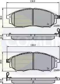 Comline CBP31524 - Kit de plaquettes de frein, frein à disque www.widencarpieces.com