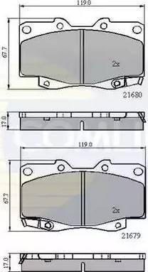 Comline CBP31574 - Kit de plaquettes de frein, frein à disque www.widencarpieces.com