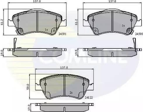 Comline CBP31576 - Kit de plaquettes de frein, frein à disque www.widencarpieces.com