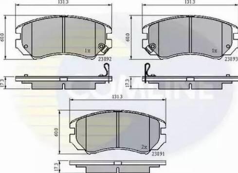 Comline CBP31196 - Kit de plaquettes de frein, frein à disque www.widencarpieces.com