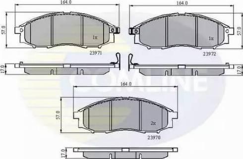 Comline CBP31193 - Kit de plaquettes de frein, frein à disque www.widencarpieces.com