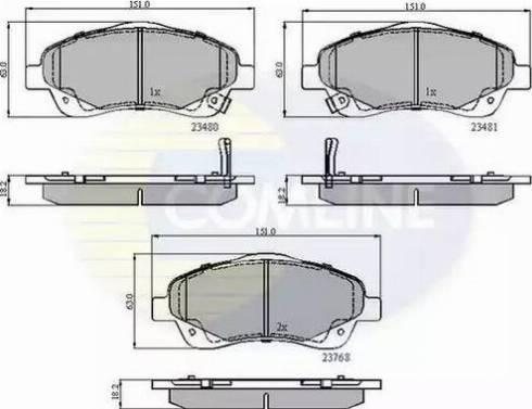 Comline CBP31140 - Kit de plaquettes de frein, frein à disque www.widencarpieces.com