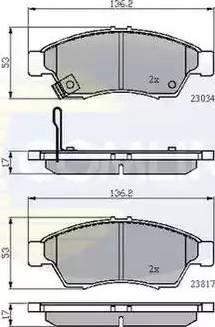 Comline CBP31125 - Kit de plaquettes de frein, frein à disque www.widencarpieces.com