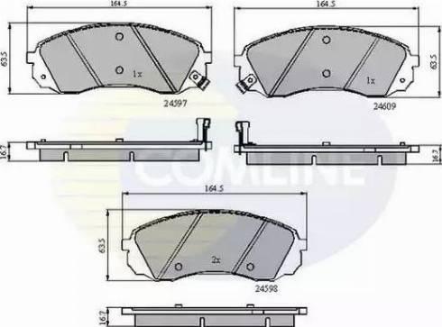 Comline CBP31782 - Kit de plaquettes de frein, frein à disque www.widencarpieces.com