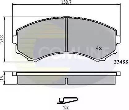 Comline CBP3172 - Kit de plaquettes de frein, frein à disque www.widencarpieces.com