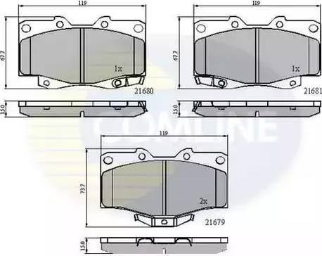 Comline CBP3333 - Kit de plaquettes de frein, frein à disque www.widencarpieces.com