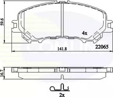 Comline CBP32304 - Kit de plaquettes de frein, frein à disque www.widencarpieces.com