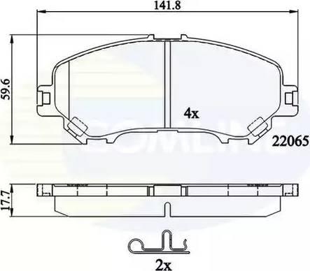 Comline CBP32278 - Kit de plaquettes de frein, frein à disque www.widencarpieces.com