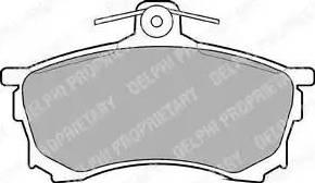 Delphi LP992 - Kit de plaquettes de frein, frein à disque www.widencarpieces.com