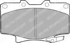 Delphi LP962 - Kit de plaquettes de frein, frein à disque www.widencarpieces.com