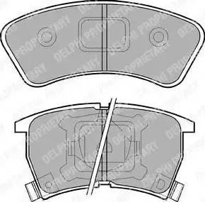 Delphi LP552 - Kit de plaquettes de frein, frein à disque www.widencarpieces.com