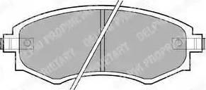 Delphi LP606 - Kit de plaquettes de frein, frein à disque www.widencarpieces.com