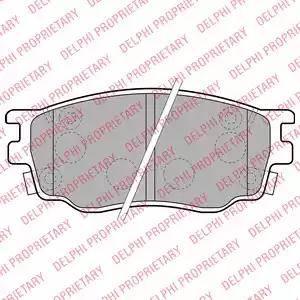 Delphi LP1916 - Kit de plaquettes de frein, frein à disque www.widencarpieces.com