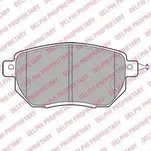Delphi LP1986 - Kit de plaquettes de frein, frein à disque www.widencarpieces.com