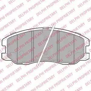 Delphi LP1987 - Kit de plaquettes de frein, frein à disque www.widencarpieces.com