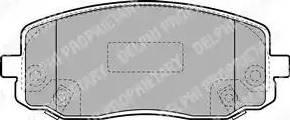 Delphi LP1933 - Kit de plaquettes de frein, frein à disque www.widencarpieces.com